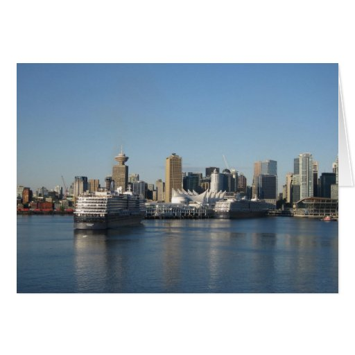 Cruise Ships Docking at Canada Place, Vancouver BC Greeting Card