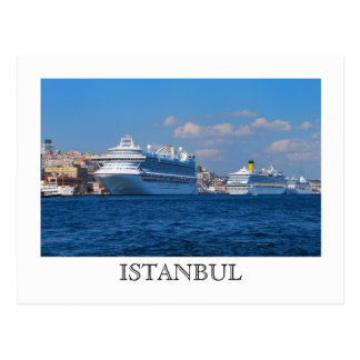 Cruise ships in Istanbul Postcard