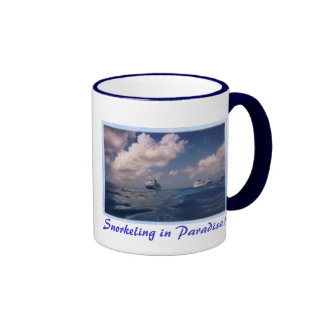 Cruise Ships, Snorkeling in Paradise! Ringer Coffee Mug