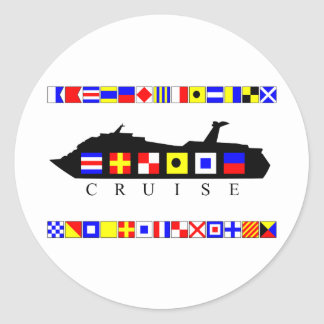 Cruise Signal Flags Classic Round Sticker