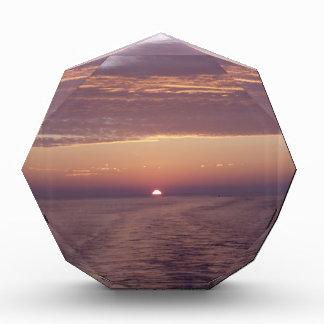 cruise sunset acrylic award