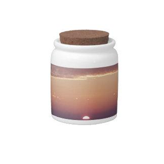 cruise sunset candy jar