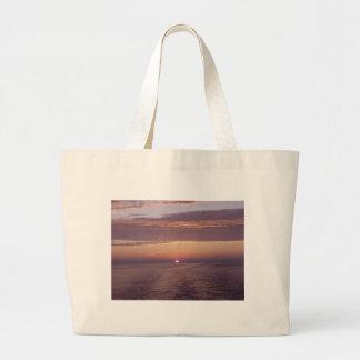 cruise sunset canvas bag