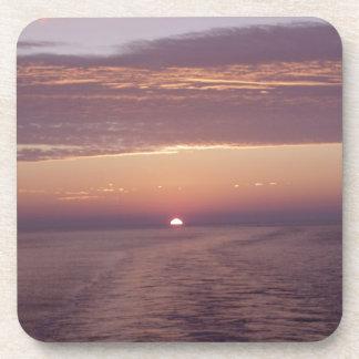 cruise sunset drink coaster