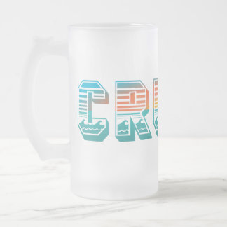 Cruise (Sunset) Frosted Glass Beer Mug