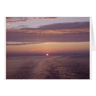 cruise sunset greeting card