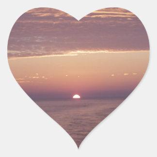cruise sunset heart sticker
