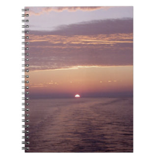 cruise sunset note book