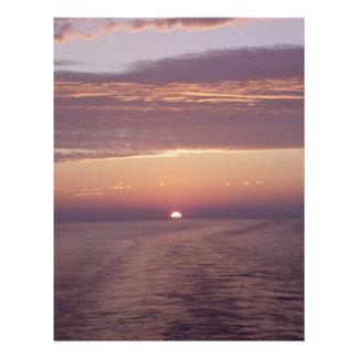 cruise sunset personalized letterhead