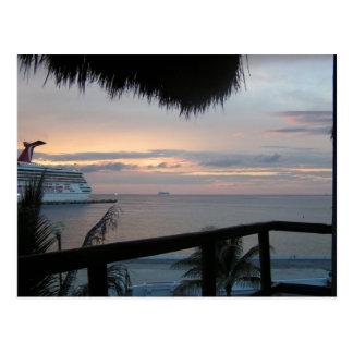 Cruise & Sunset Postcard