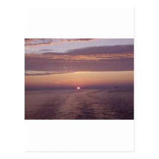 cruise sunset postcard