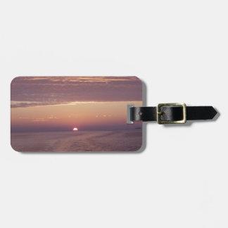 cruise sunset travel bag tags