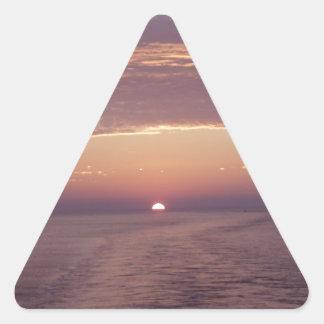 cruise sunset triangle sticker