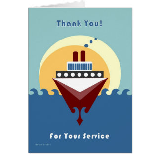 Cruise - Thank You for Your Service Card