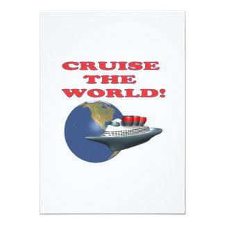 Cruise The World 5x7 Paper Invitation Card