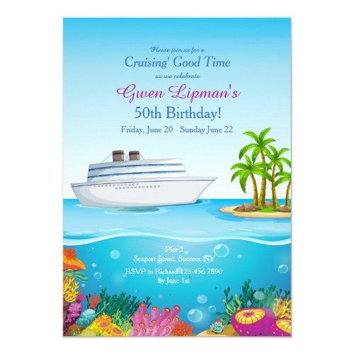 Cruise to Paradise Invitation