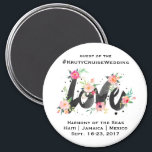 "Cruise Wedding Door Magnet<br><div class=""desc"">Great to help guests identify their room in a sea of halls of identical doors.</div>"