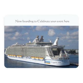 Cruise wedding invitation