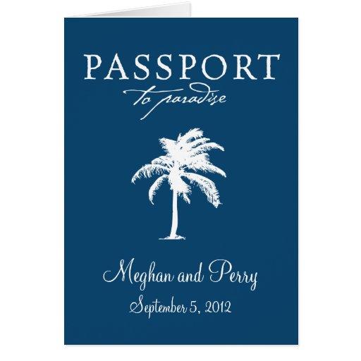 Cruise Wedding Passport Invitation