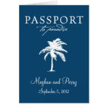 Cruise Wedding Passport Invitation Stationery Note Card