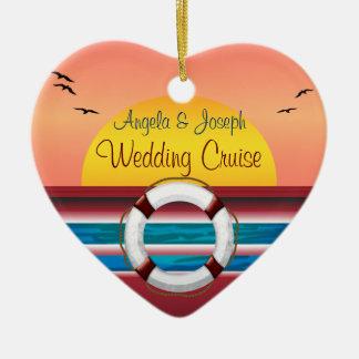 Cruise Wedding Personalized Favor Ceramic Ornament