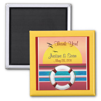 Cruise Wedding Personalized Favor Magnets