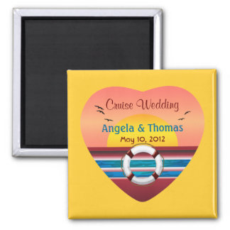 Cruise Wedding Personalized Favor Magnet