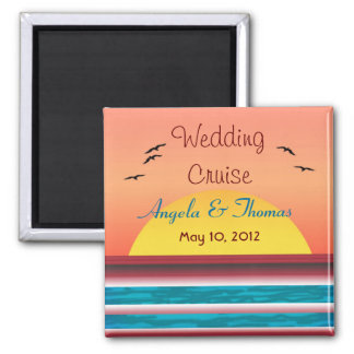 Cruise Wedding Personalized Sunset Favor Magnet