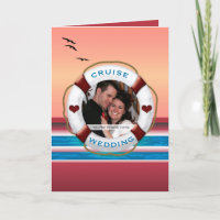 Cruise Wedding - Sunset Custom Photo Invitation