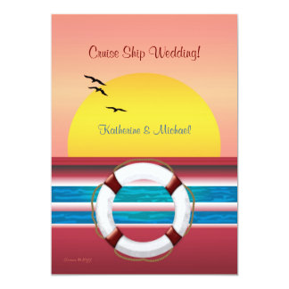 Cruise Wedding - Sunset Invitation