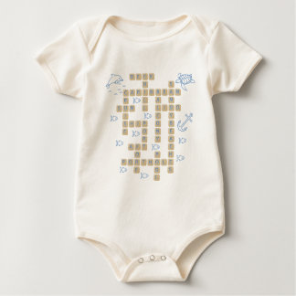 Cruise Word Game Baby Bodysuit