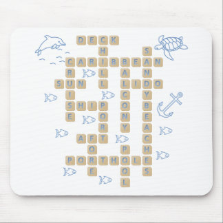 Cruise Word Game Mouse Pad