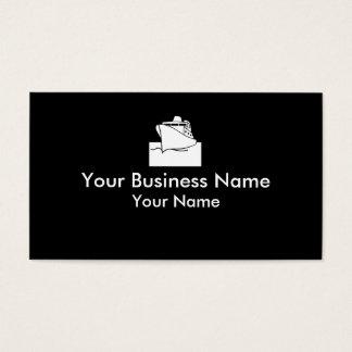 Cruiseline boat white black business cards