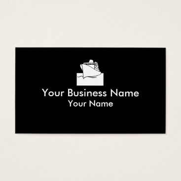 Professional Business Cruiseline boat white black business cards