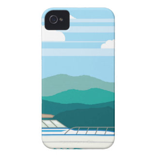 Cruiser Boat landscape shore Case-Mate iPhone 4 Case