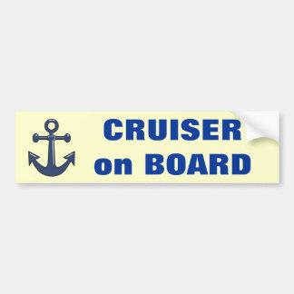 Cruiser on Board Bumper Sticker