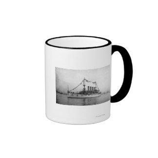Cruiser Washington anchored in Seattle Harbor Mug