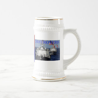 CRUISERS vs DESTROYERS Cup 18 Oz Beer Stein