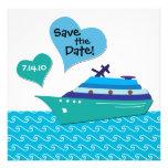 Cruiseship Save the Wedding Date Card Personalized Invitation