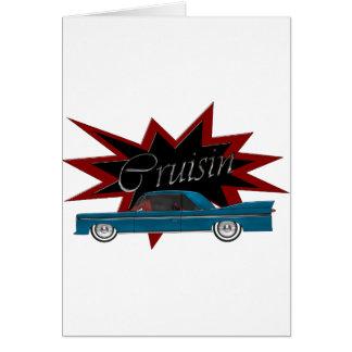 Cruisin Blue Blank Greeting Card