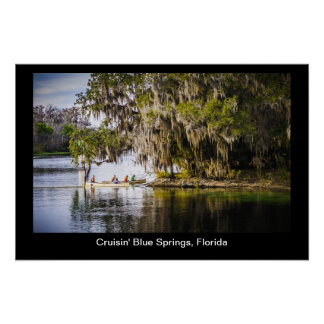 Cruisin Blue Springs la Florida Poster