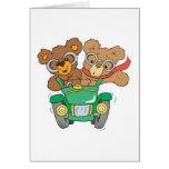 Cruisin in Car Bears Greeting Card