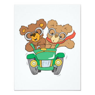 Cruisin in Car Bears Personalized Announcement