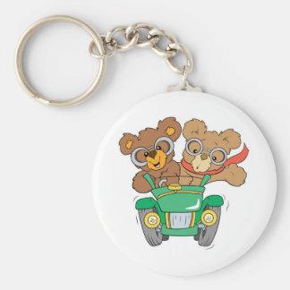 Cruisin in Car Bears Keychain