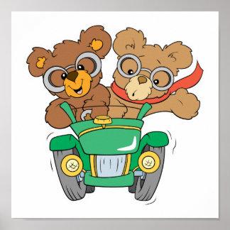 Cruisin in Car Bears Poster