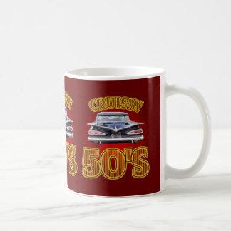 Cruisin The Fifties Mug. Classic White Coffee Mug