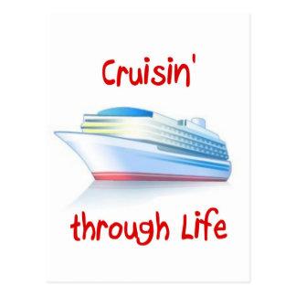 cruisin' through life postcard