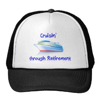 cruisin' through retirement trucker hat