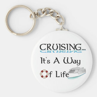 Cruising... A Way Of Life Basic Round Button Keychain