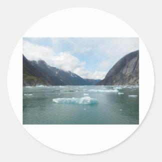 Cruising Alaska Inside Passage Classic Round Sticker